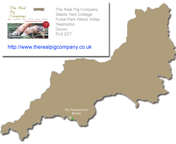 The Real Pig Company - Supplier map